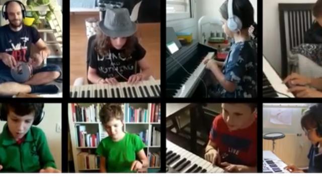 Alumnos de percusión